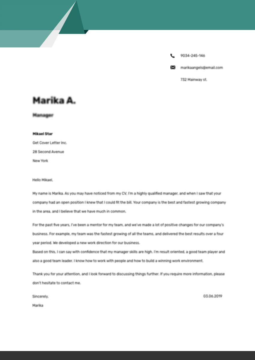 Template of a cover letter for doctor assistant