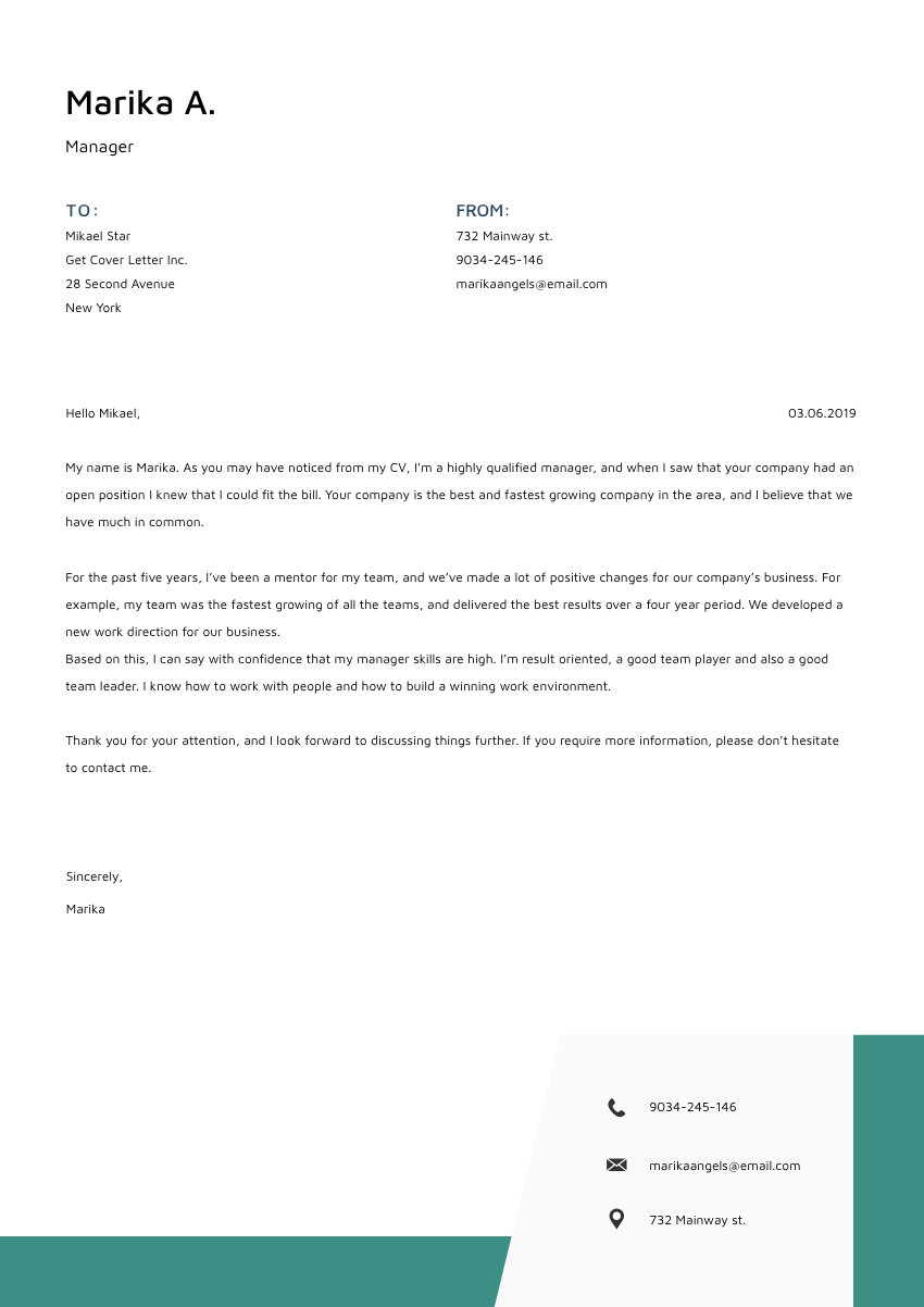 a diesel mechanic cover letter sample