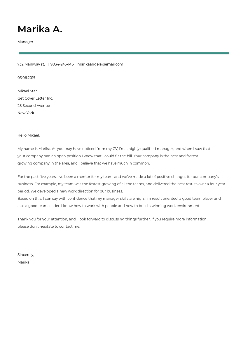 a medical sales representative cover letter sample