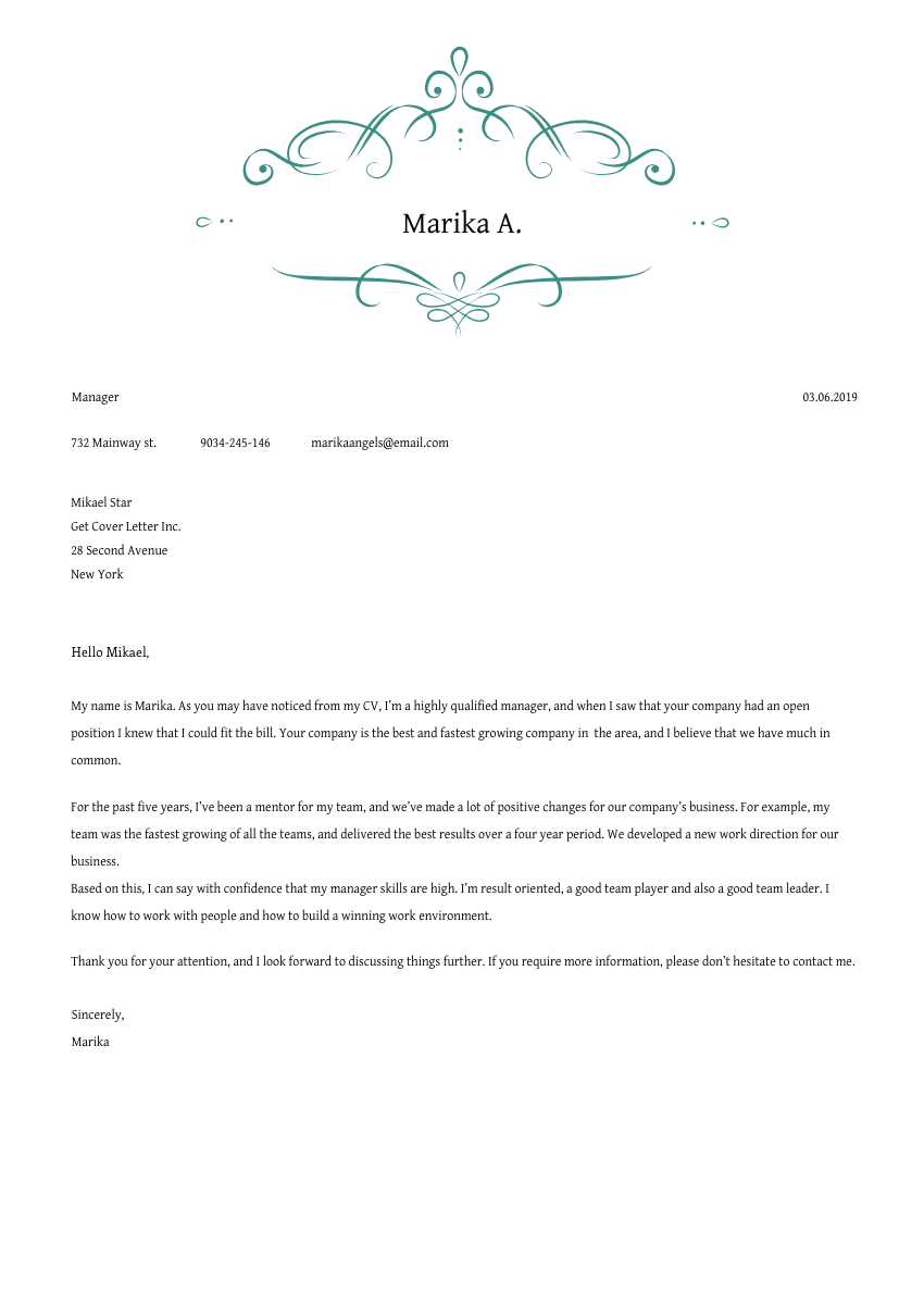 a health educator cover letter sample