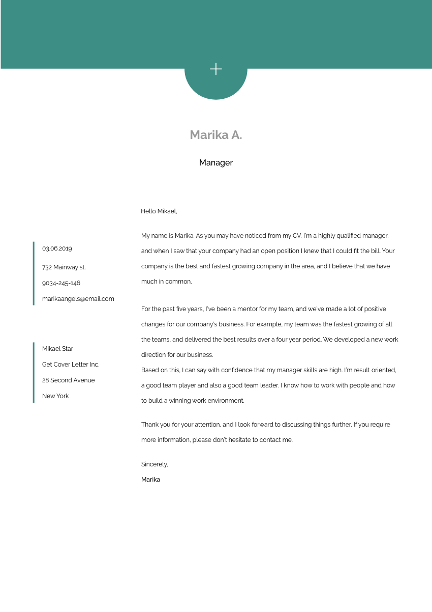 a beauty advisor cover letter sample