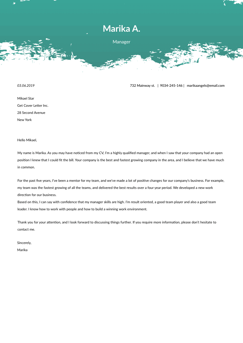 a key account manager cover letter sample