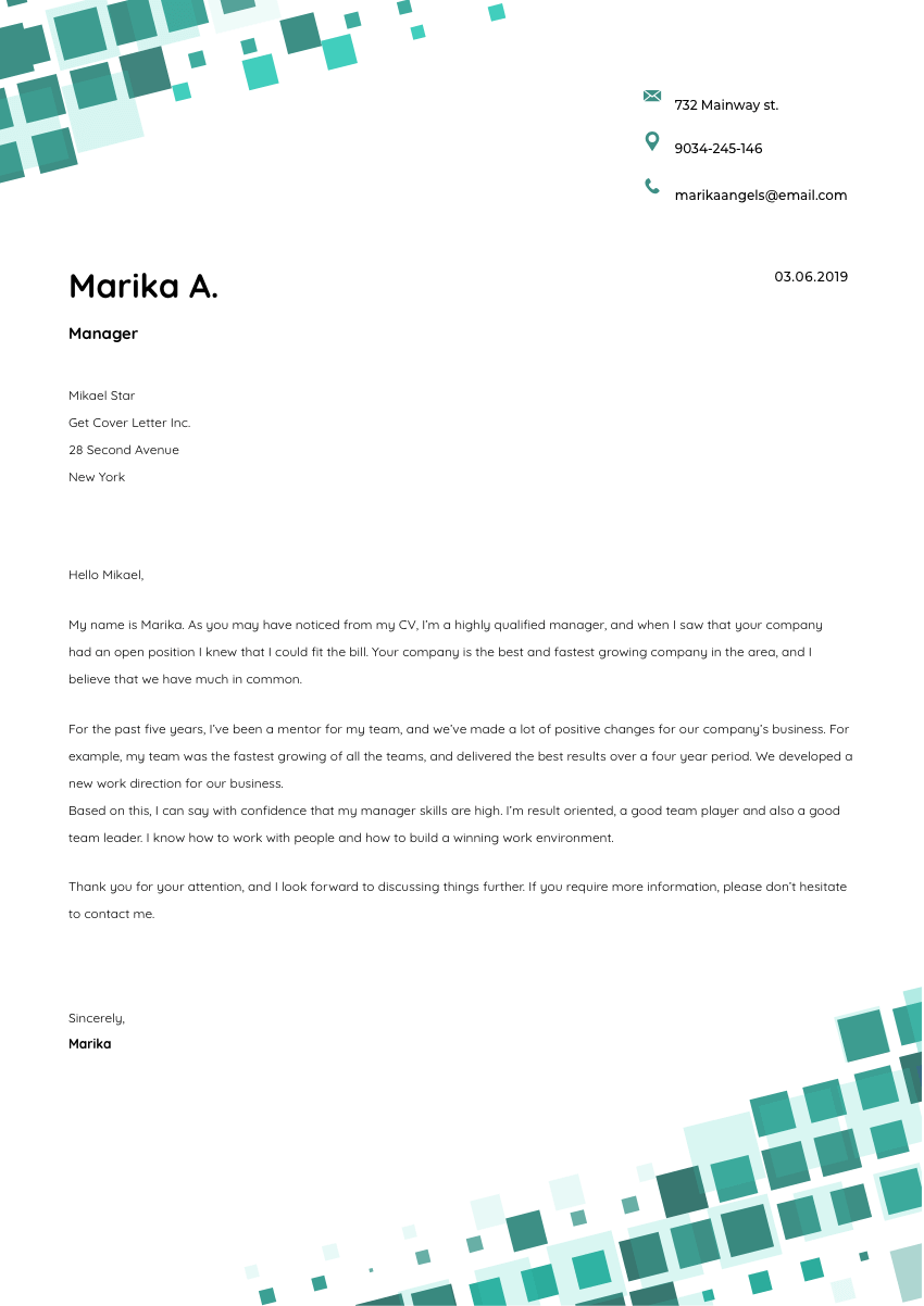 a video editor cover letter sample