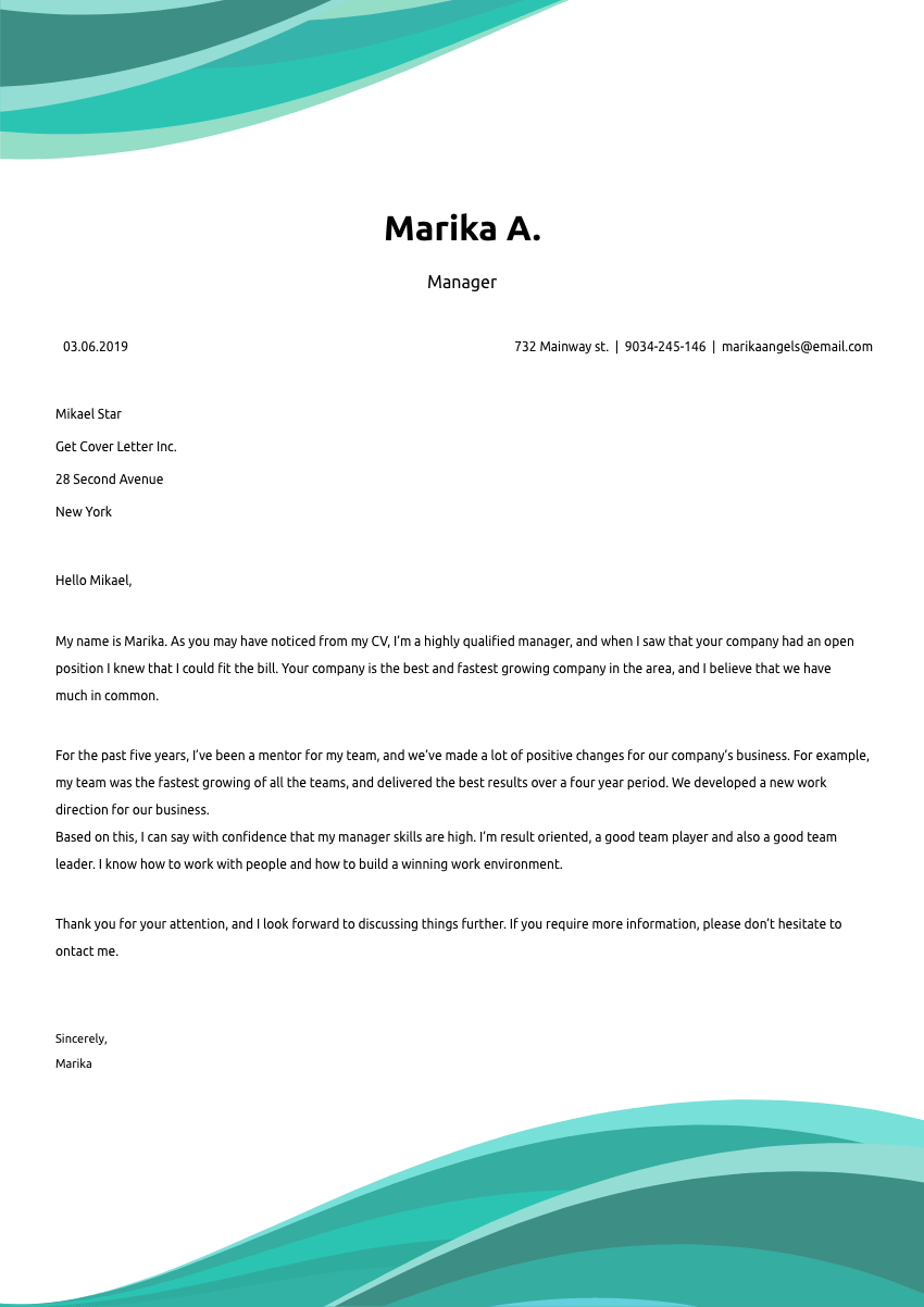 image of a cover letter for a welder