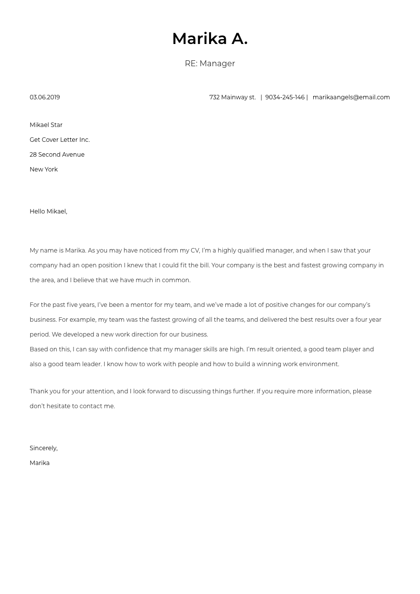 a psychologist cover letter sample