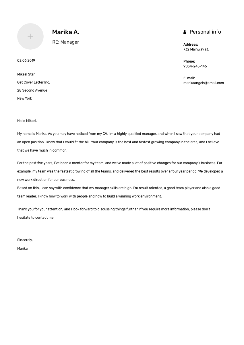 a scheduler cover letter sample