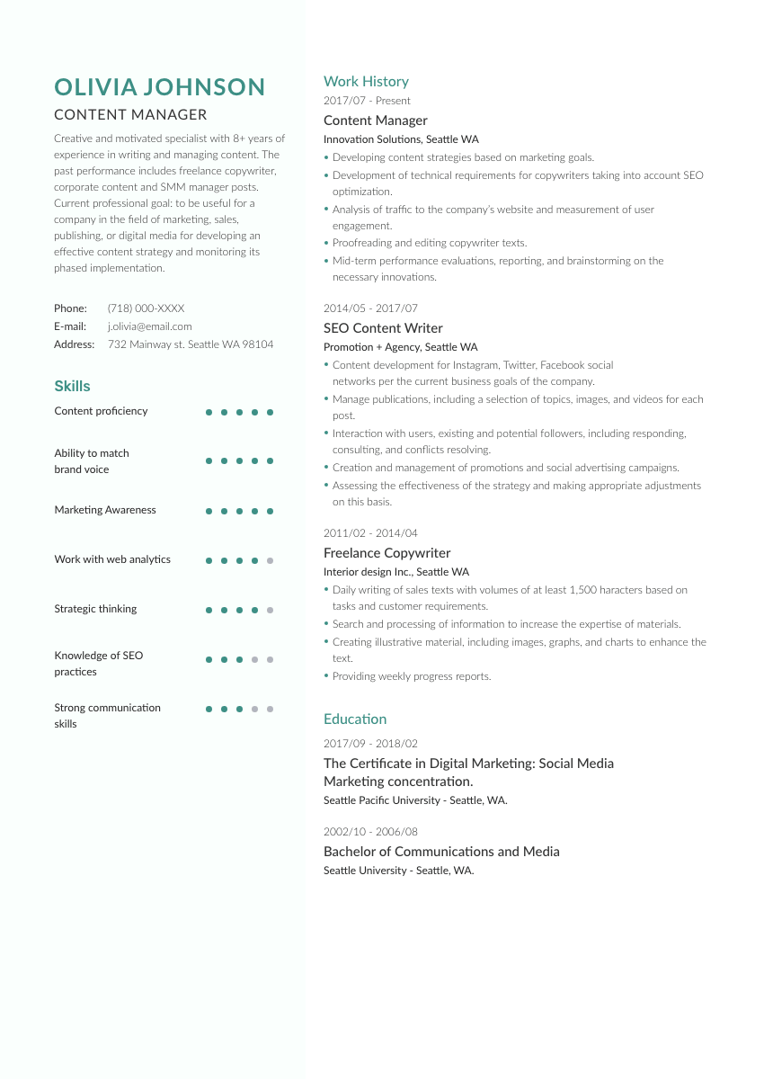 a marketing analyst cover letter sample