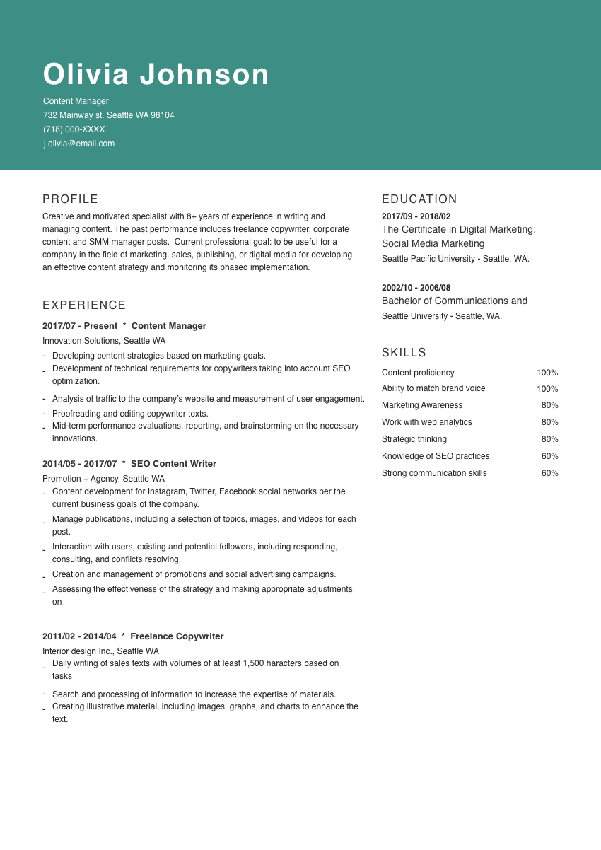 image of a resume example for a system administrator
